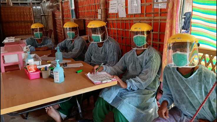 A global shortage of medical grade personal protective equipment might force aid groups to close down health care centers in the Rohingya refugee camps. (Photo Courtesy of Doctors Without Borders)