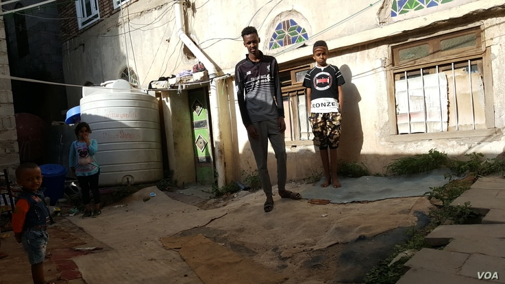 Yaser Rashad Abdul-Mosa, an 18-year-old Somali born in Yemen says since the pandemic began, locals have become more hostile to refugees on May 28, 2020 in Sanaa. (VOA/Naseh Shaker)