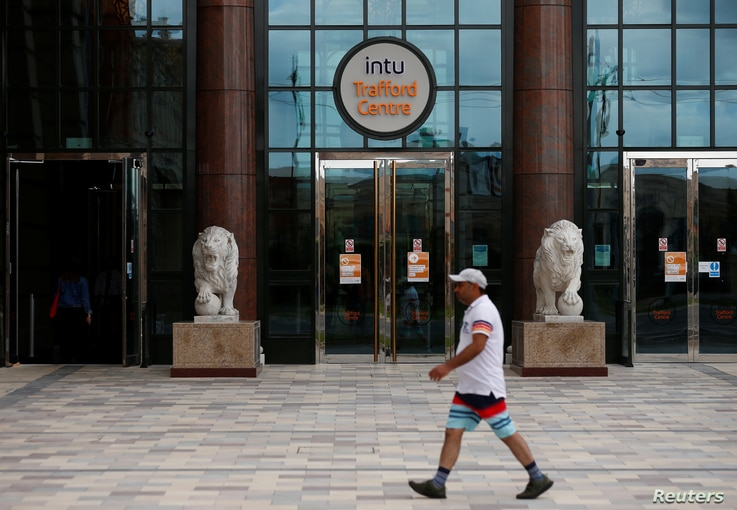 General view of the Intu Trafford Centre, as Intu eyes possible administration in fight for debt standstill, Manchester, Britain, June 23, 2020.