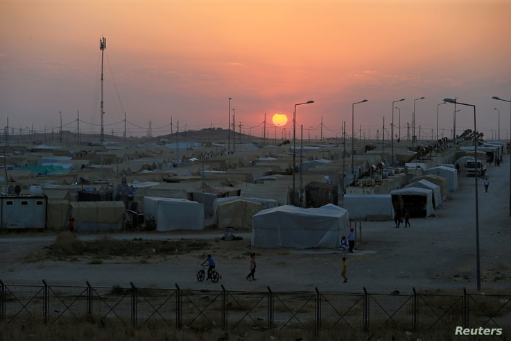 A general view of Sharya camp near Dohuk, Iraq July 3, 2020. Picture taken July 3, 2020. REUTERS/Ari Jalal