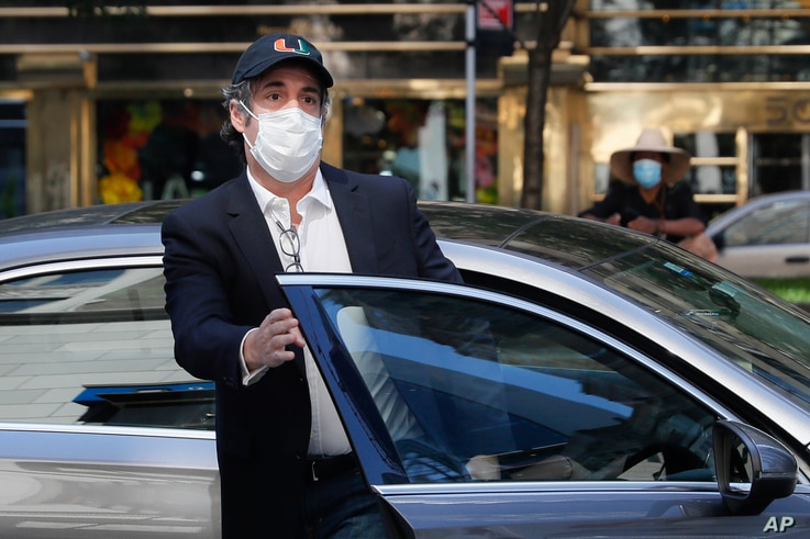 FILE - Michael Cohen arrives at his New York City apartment in this May 21, 2020 file photo.