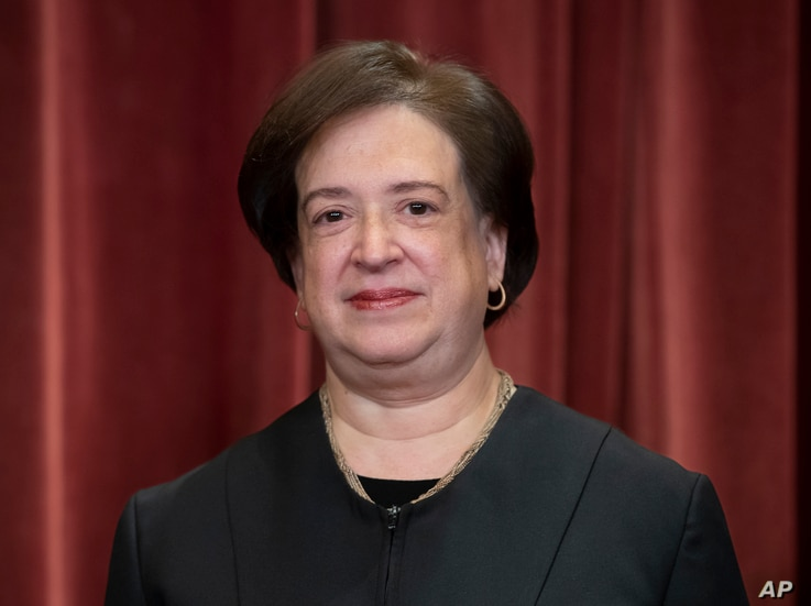 Associate Justice Elena Kagan, appointed by President Barack Obama, sits with fellow Supreme Court justices for a group…