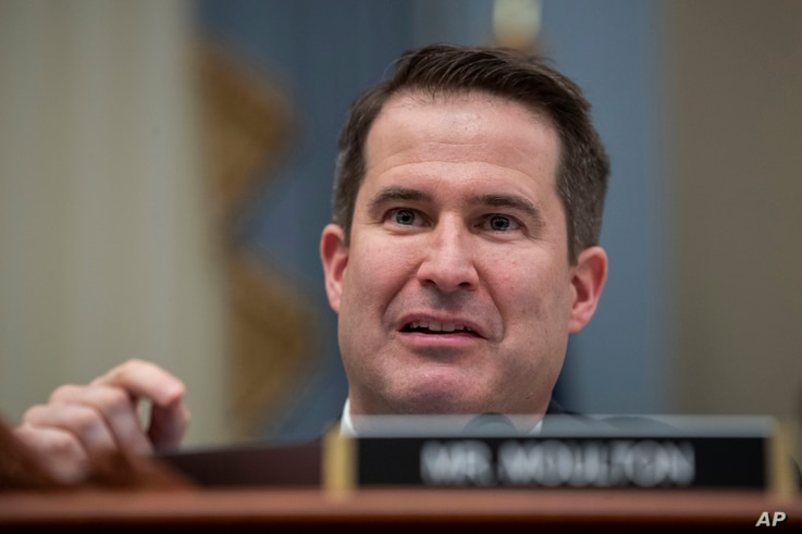 Rep. Seth Moulton, D-Mass., questions Office of Management and Budget Acting Director Russell Vought as he testifies during a…