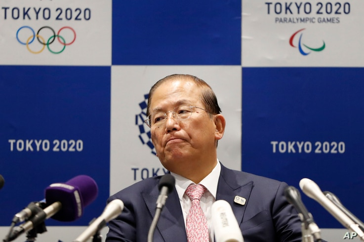 Tokyo 2020 Organizing Committee CEO Toshiro Muto attends a news conference after a Tokyo 2020 Executive Board Meeting in Tokyo…