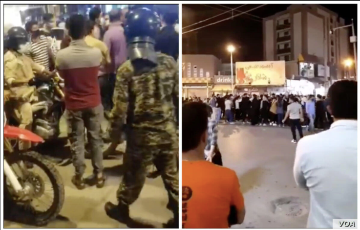 Photos received by VOA Persian, appearing to show Iranians staging an anti-government protest in the southwestern city of Behbah