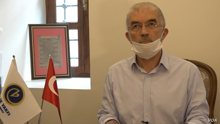 Mehmet Alacaci chief executive of Turkey's Birlik Foundation, organized of the petition to turn Hagia Sophia into a mosque, says the campaign is about reclaiming an important symbol of their religious identify. Courtesy Dorian Jones