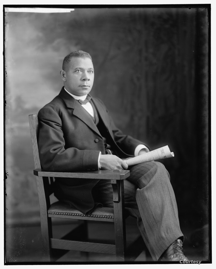 Booker T. Washington portrait. (Harris & Ewing photograph, Prints and Photographs Division)