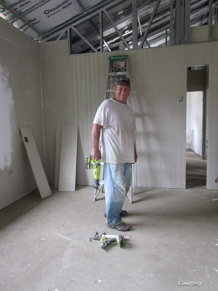 Robert Caretto, a retired firefighter moved to Louisiana to help rebuild homes after Hurricane Katrina. (Photo courtesy Robert Caretto)