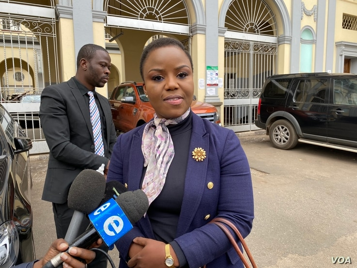 Fadzayi Mahere, spokeswoman of the Movement for Democratic Change party, July 28, 2020, in Harare. (Photo: Columbus Mavhunga/VOA)