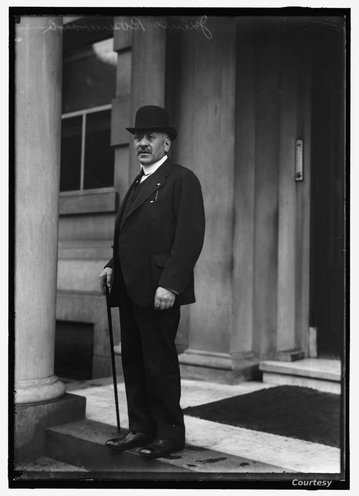 1917 portrait of Julius Rosenwald. (Harris & Ewing photographs, Prints and Photographs Division)