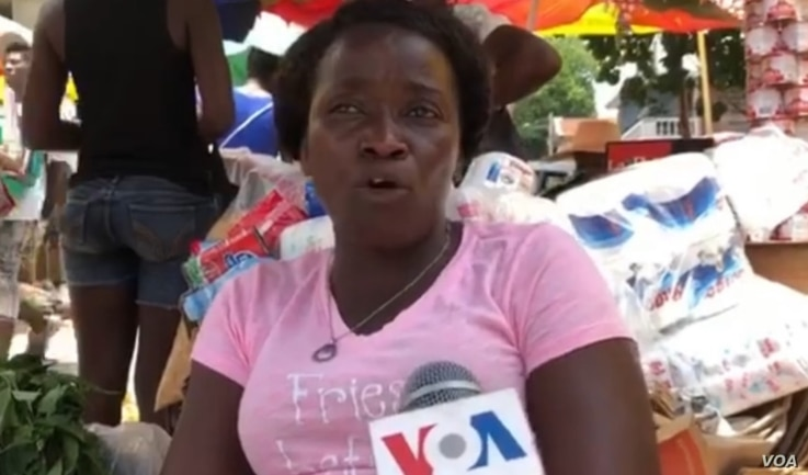 This Haitian mother of three boys says she is against the president's new penal code articles regarding homosexuality. (Photo: Matiado Vilme /VOA)