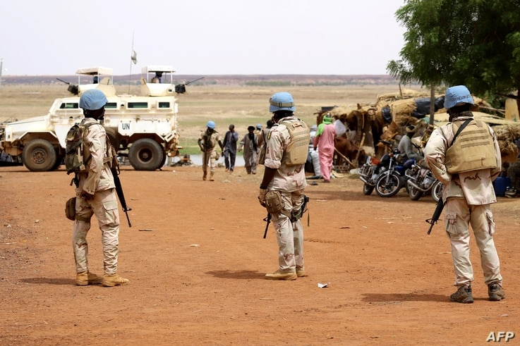 Senegalese soldiers of the UN peacekeeping mission in Mali MINUSMA (United Nations Multidimensional Integrated Stabilisation…