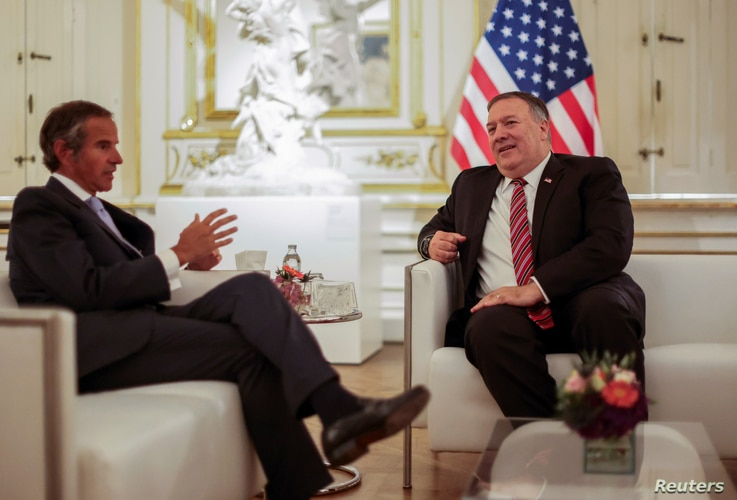 U.S. Secretary of State Mike Pompeo meets with International Atomic Energy Agency (IAEA) Director General Rafael Grossi in…