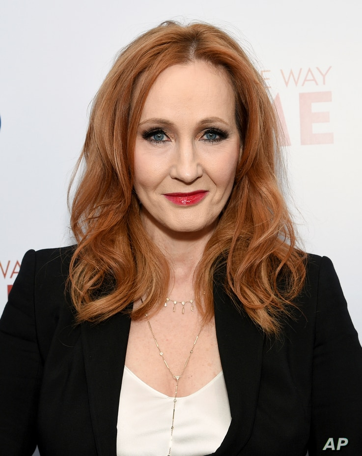 Author J.K. Rowling attends a documentary in New York, Dec. 11, 2019, in New York.