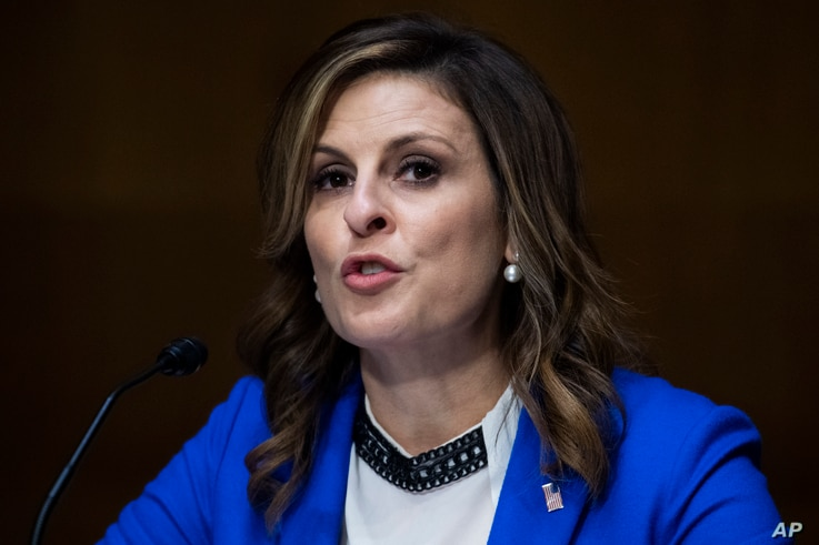 Erin Nealy Cox, U.S. Attorney, Northern District of Texas, testifies during a Senate Judiciary Committee hearing on police use…
