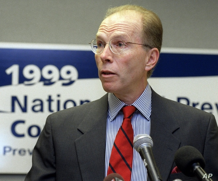 Dr. Jeffrey Koplan, director, Centers for Disease Control and Prevention addresses a news briefing at the opening of the 1999…