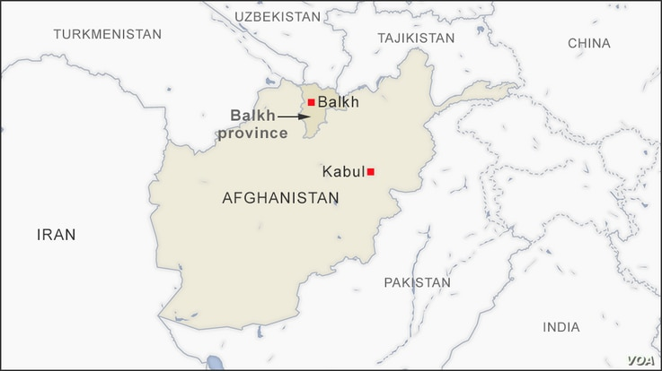 Map of Balkh Afghanistan