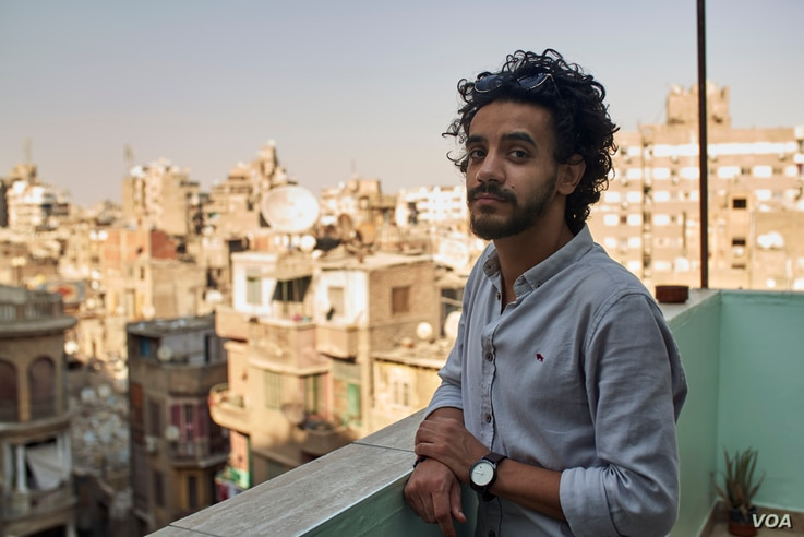 Michael Thabet, 28, says online bickering has lead to on the ground anger between Egyptians and Ethiopians on July 25, 2020 in Cairo. (VOA/Hamada Elrasam)