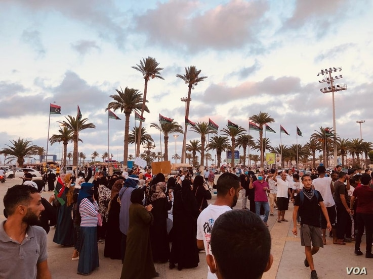 Sunday's rally was the first of its kind in more than five years in Tripoli, Libya, on Aug. 23, 2020. (VOA/Salaheddin Almorjini)