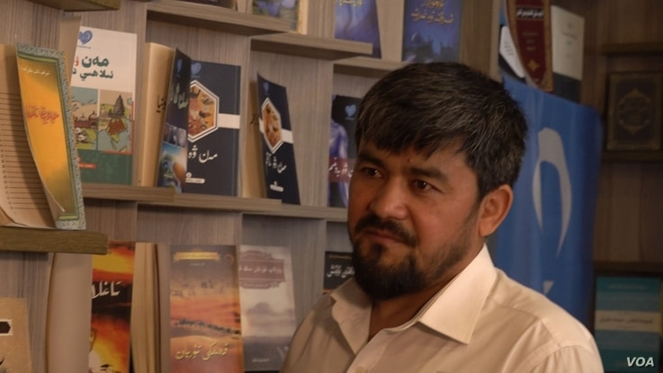Poet Abdurehim İmin Parach believes Uighur activists are being targeted by Turkish security forces. (Dorian Jones/VOA)