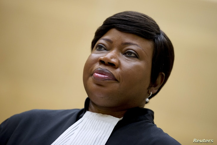 Prosecutor Fatou Bensouda waits for former Congo vice-president Jean-Pierre Bemba to enter the courtroom of the International…