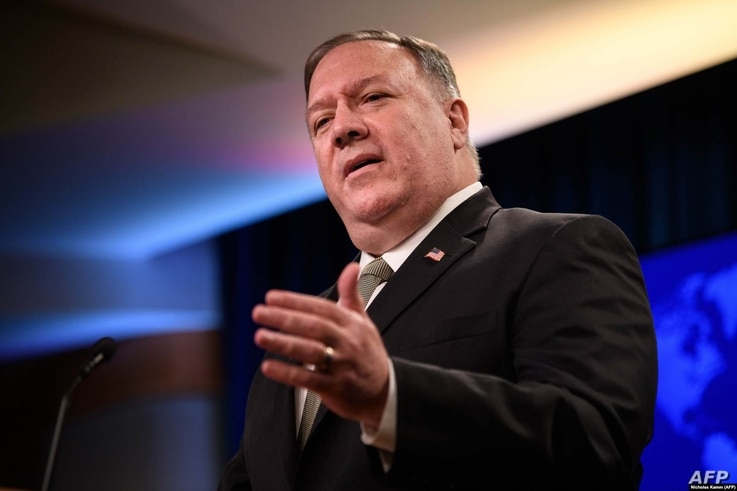 U.S. Secretary of State Mike Pompeo served as director of the CIA from January 2017 until April 2018.