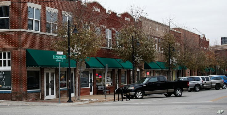 A handful of businesses line Greenwood Avenue, the location of the former Black Wall Street, in Tulsa, Oklahoma, Dec. 15, 2016.