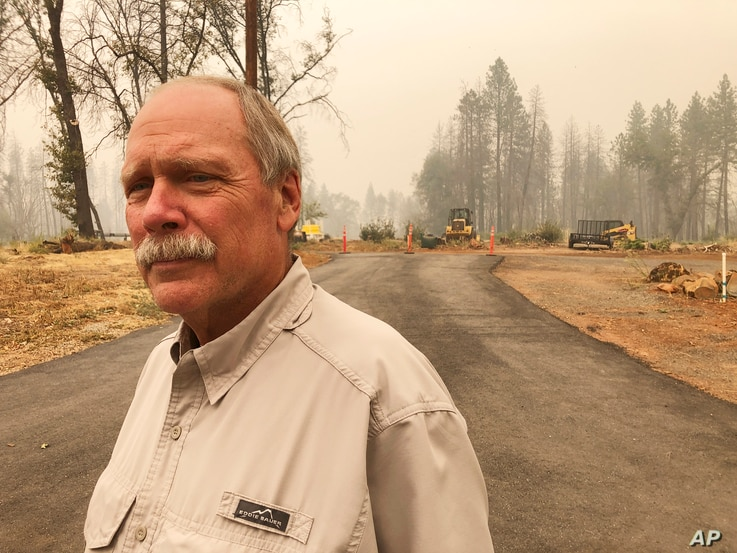 Paradise Town Councilman Steve Crowder stands on his property in Paradise, Calif., on Thursday, Sept. 10, 2020. Crowder lost…