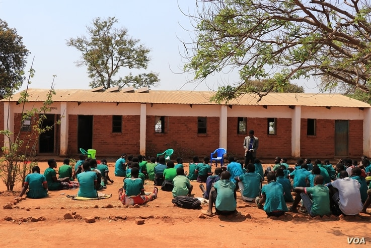 Chatsala Primary school in Lilongwe is one of the beneficiaries of the Solar Mamas efforts. (Lameck Masina/VOA)