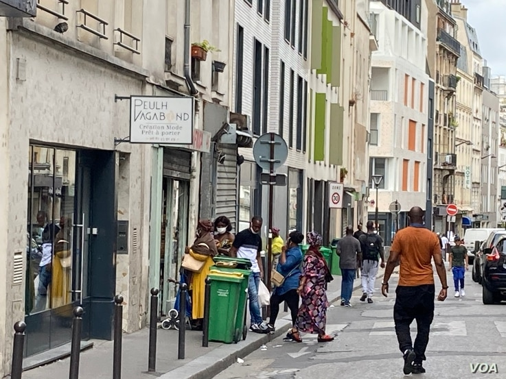 Some people fear Goutte d'Or in Paris will gentrify, pushing out the local population. (Lisa Bryant/VOA)