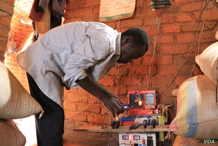 The program helped some villagers like Mailosi Banda a tradition leaders for Kainja village get into the battery-charging trade--Picture by Lameck Masina