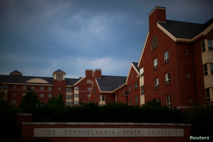 A view of buildings on the campus of Pennsylvania State University in State College, Pennsylvania July 11, 2012.  REUTERS/Eric…