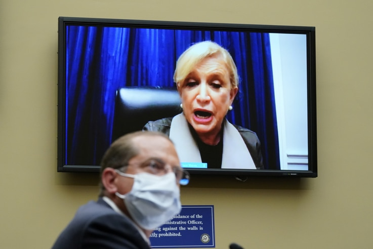 Rep. Carolyn Maloney (D-NY) speaks as U.S. Secretary of Health and Human Services Alex Azar testifies to the House Select…