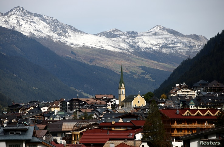 A general view of the ski resort, amid the coronavirus disease (COVID-19) outbreak, in Ischgl, Austria, October 9, 2020…