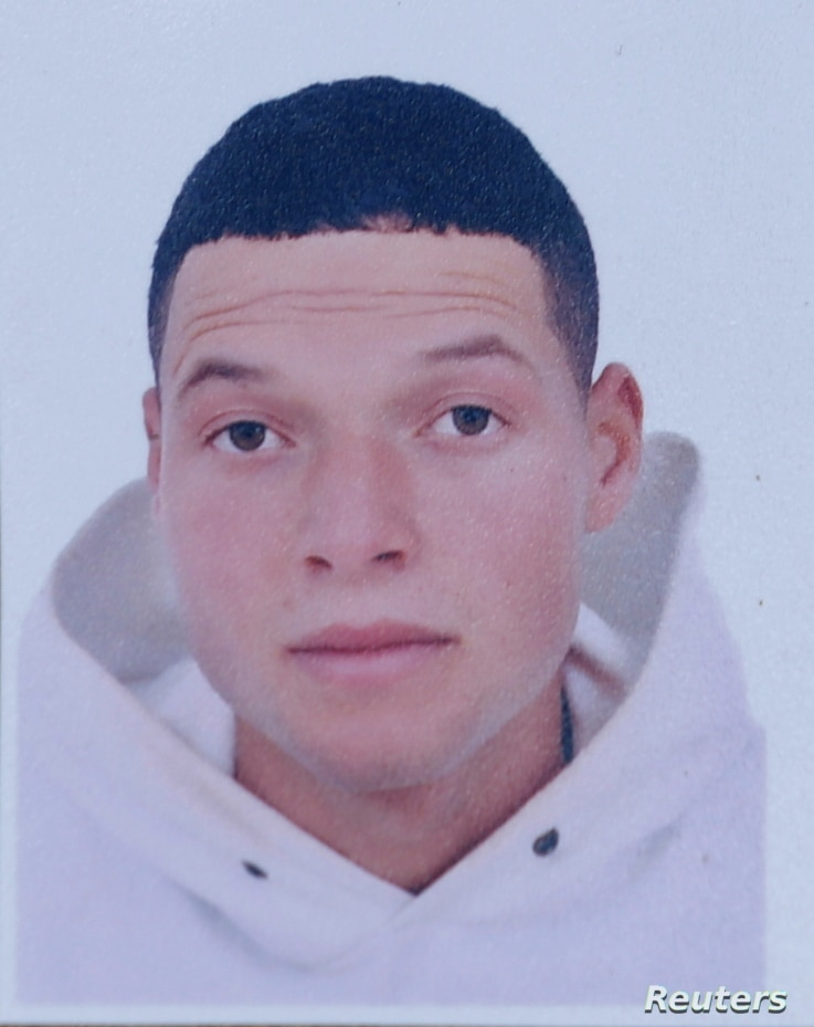 A picture of Brahim al-Aouissaoui, who is suspected by French police and Tunisian security officials of carrying out attack.