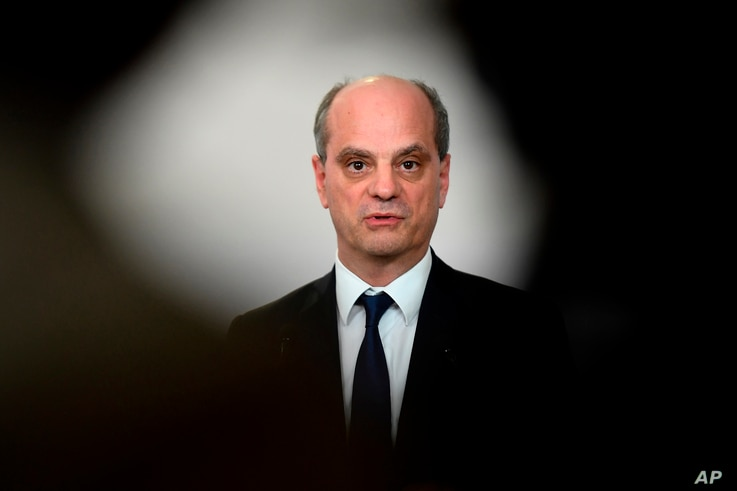 FILE - French Education Minister Jean-Michel Blanquer.