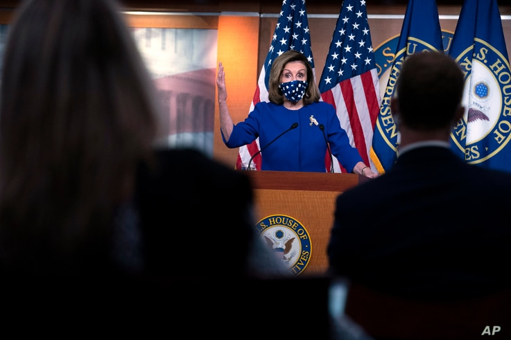 Speaker of the House Nancy Pelosi, D-Calif. speaks during a news conference on Capitol Hill, in Washington, Thursday, Oct. 22,…