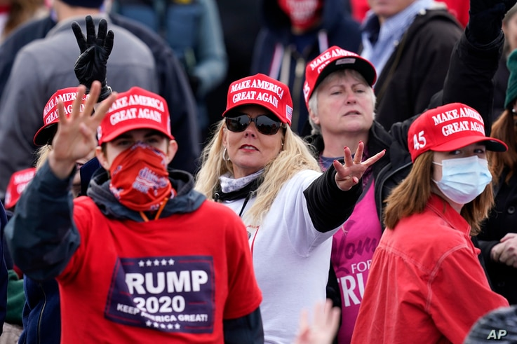 Supporters of President Donald Trump at a campaign rally in Londonderry, N.H., Oct. 25, 2020.