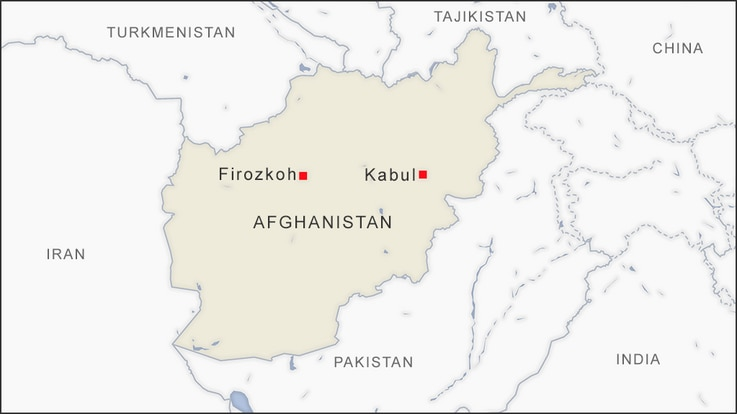 Map of Firozkoh Afghanistan