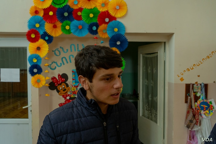 Like many Armenians, 16-year-old Arsen Abunts says the current war is an existential threat, and he thinks when he is old enough, he will join the long-running conflict in the battlefield on Oct. 8, 2020 in Goris, Armenia. (Yan Boechat/VOA)