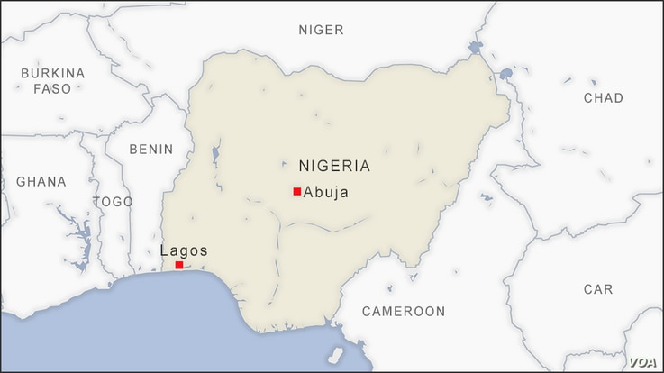 Map of Lagos Nigeria