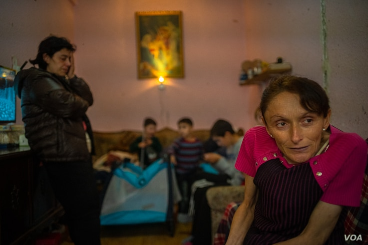 Hasmik Sargsyan, 41, has fled her home in Nagorno-Karabakh twice in the past four years, on Oct. 6, 2020 in Yerevan, Armenia. (VOA/Yan Boechat)