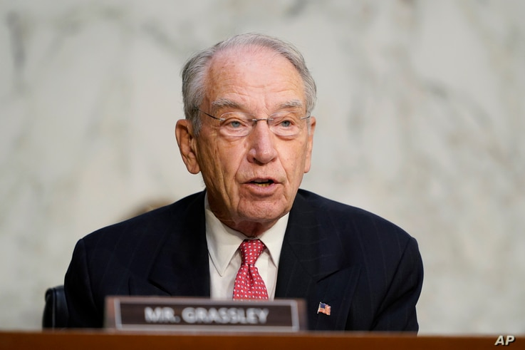 Sen. Charles Grassley, R-Iowa, speaks during the confirmation hearing for Supreme Court nominee Amy Coney Barrett, before the Senate Judiciary Committee, Oct. 14, 2020, on Capitol Hill in Washington.