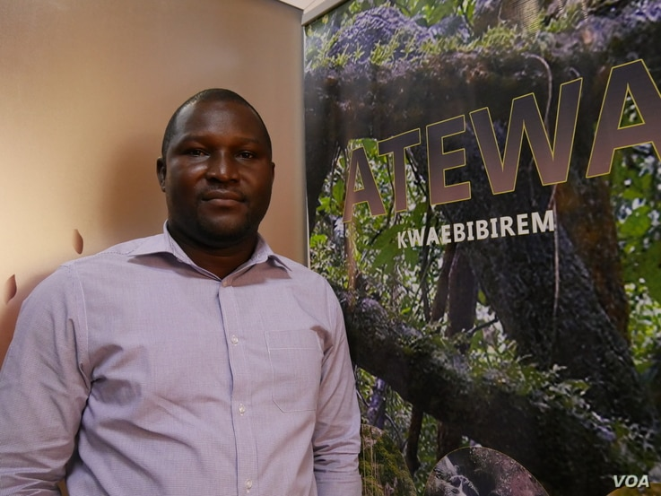 Daryl Bosu from A Rocha Ghana is also working to save forest cover, Oct. 5, 2020. (Stacey Knott/VOA)