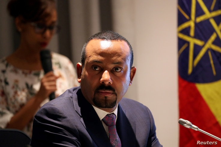 FILE PHOTO: Ethiopia's Prime Minister Abiy Ahmed attends a signing ceremony with European Commission President Ursula von der…