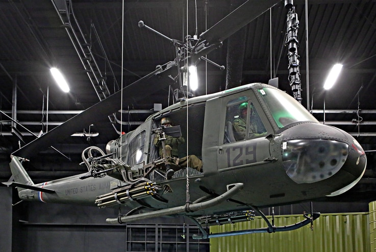 """The """"Huey"""" was the iconic helicopter of the Vietnam War. The helicopters arrived in Vietnam in 1962 as aerial ambulances."""