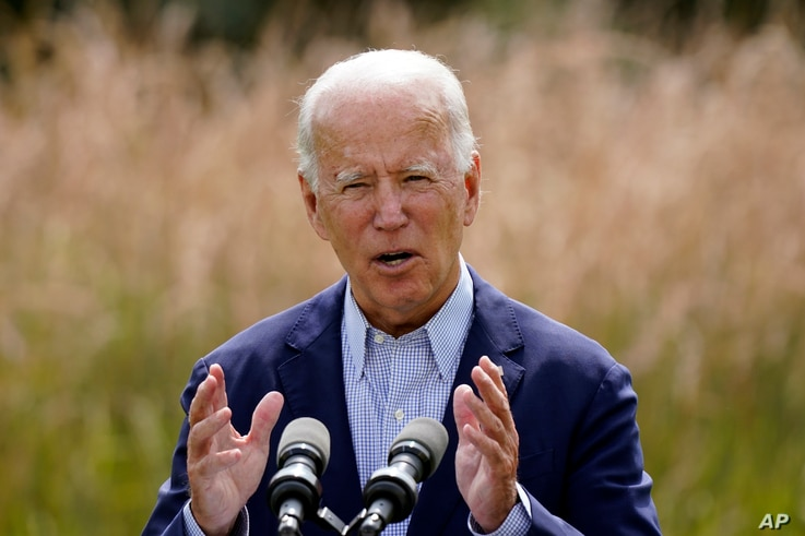 FILE - In this Sept. 14, 2020 file photo, Democratic presidential candidate and former Vice President Joe Biden speaks about…