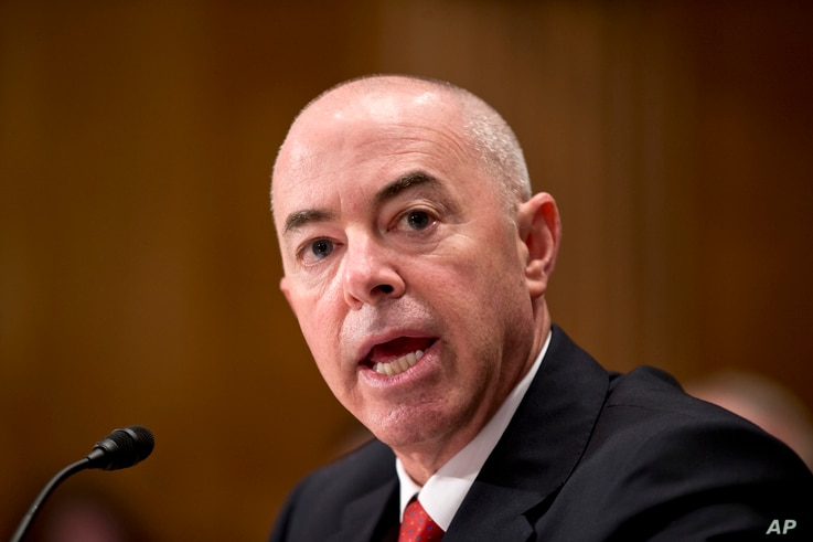 FILE - In this July 25, 2013, file photo Alejandro Mayorkas, President Obama's nominee to become deputy secretary of the…