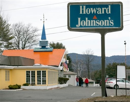 In this April 8, 2015 photo, customers walk into Howard Johnson's Restaurant in Lake George, New York.