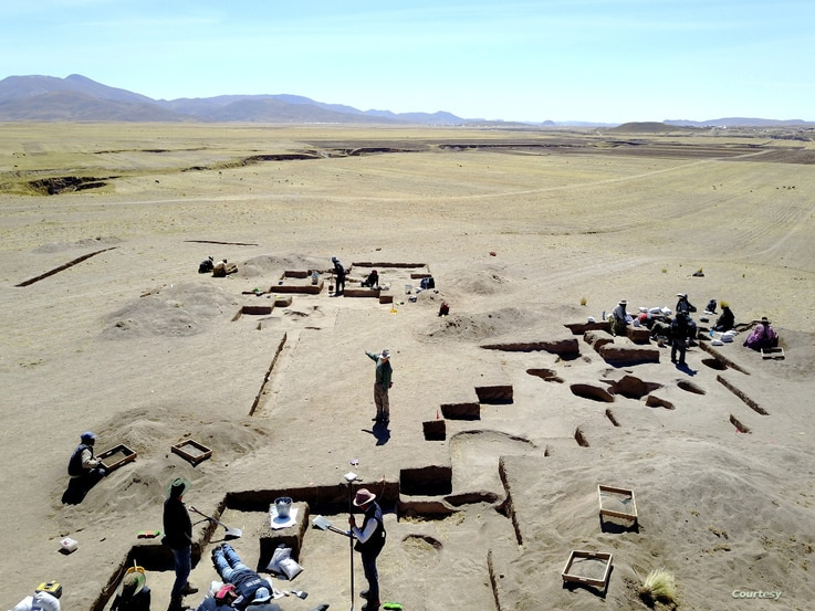 Excavations at Wilamaya Patjxa, Peru